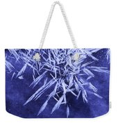 Ice Patterns On Wedge Pond Weekender Tote Bag