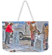 Ice Sculptures Coming About Weekender Tote Bag