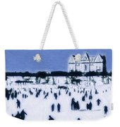 Ice Skating In Central Park Weekender Tote Bag