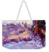 Icelandic Horse Trail Ride Weekender Tote Bag