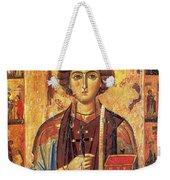 Icon Of Saint Pantaleon Weekender Tote Bag by Science Source