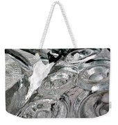 Icy Climb To The Christmas Tree Weekender Tote Bag