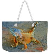 Iguana At The Restaurant  Weekender Tote Bag