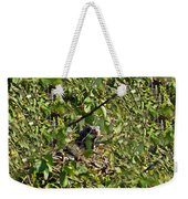 Iguana Hiding In The Bushes Weekender Tote Bag