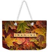 Imagine-autumn Weekender Tote Bag