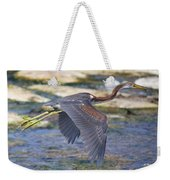 Immature Tricolored Heron Flying Weekender Tote Bag