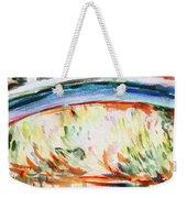 Impressions On Monet Painting Of Pond With Waterlilies  Weekender Tote Bag