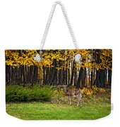 In A Yellow Wood Painted Weekender Tote Bag