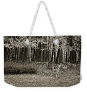 In A Yellow Wood Sepia Weekender Tote Bag