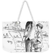 In Cafe Capuccino 01 Weekender Tote Bag