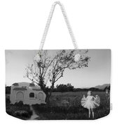 In My Dreams I Am A Little Girl Bw Weekender Tote Bag