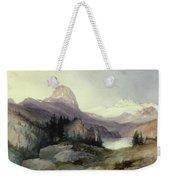 In The Bighorn Mountains Weekender Tote Bag by Thomas Moran