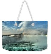 In The Middle Of Horseshoe Weekender Tote Bag