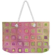 In The Pink With Squarish Squares  Weekender Tote Bag
