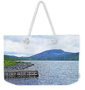 In The Shelter Of The Blue Cliff Weekender Tote Bag