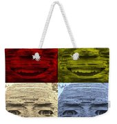 In Your Face In Colors Weekender Tote Bag