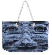In Your Face In Cyan Weekender Tote Bag
