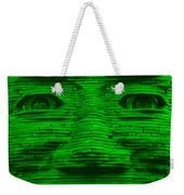 In Your Face In Green Weekender Tote Bag