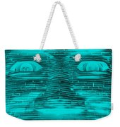 In Your Face In Neagtive Turquois Weekender Tote Bag