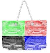 In Your Face In Negative Colors Weekender Tote Bag