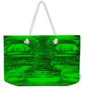 In Your Face In Negative Green Weekender Tote Bag