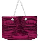 In Your Face In Negative  Hot Pink Weekender Tote Bag