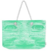 In Your Face In Negative Light Green Weekender Tote Bag