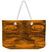 In Your Face In Negative Orange Weekender Tote Bag