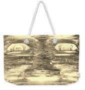 In Your Face In Negative Sepia Weekender Tote Bag