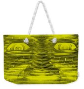 In Your Face In Negative Yellow Weekender Tote Bag