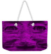 In Your Face In Purple Weekender Tote Bag