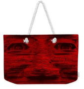 In Your Face In Red Weekender Tote Bag