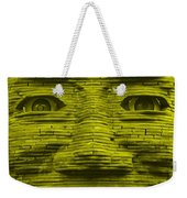 In Your Face In Yellow Weekender Tote Bag