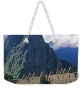 Inca Structures Stand Below Mount Weekender Tote Bag