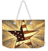 Independence Day Stary American Flag Weekender Tote Bag