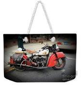 Indian Chief Motorcycle Rare Weekender Tote Bag