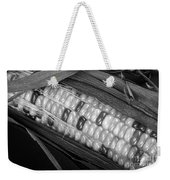 Indian Corn Black And White Weekender Tote Bag