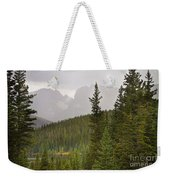 Indian Peaks Colorado Rocky Mountain Rainy View Weekender Tote Bag