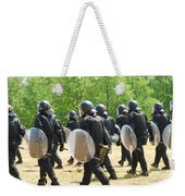 Infantry Soldiers Of The Belgian Army Weekender Tote Bag by Luc De Jaeger