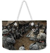 Infantrymen Receive Their Safety Brief Weekender Tote Bag