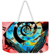 Infinity Time Cube Blue On Red Weekender Tote Bag