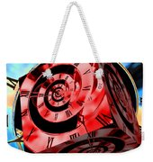 Infinity Time Cube Red On Blue Weekender Tote Bag