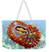 Influenza Structure On Blue Weekender Tote Bag