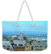 Inner Harbour As Seen  Via Marriot Window Weekender Tote Bag
