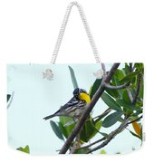 Inquisitive Yellow Throated Warbler Weekender Tote Bag