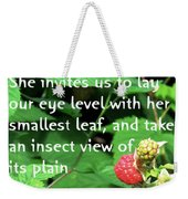 Insect View Weekender Tote Bag