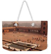 Inside Jama Masjid In The Huge Courtyard Weekender Tote Bag