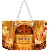 Inside St Louis Cathedral Jackson Square French Quarter New Orleans Accented Edges Digital Art Weekender Tote Bag