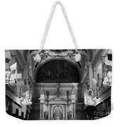 Inside St Louis Cathedral Jackson Square French Quarter New Orleans Black And White Weekender Tote Bag