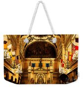 Inside St Louis Cathedral Jackson Square French Quarter New Orleans Fresco Digital Art Weekender Tote Bag by Shawn O'Brien